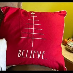 Believe Christmas Pillow NWT